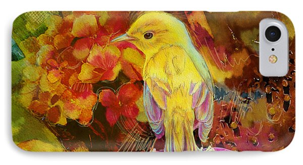 Yellow Bird IPhone Case by Catf