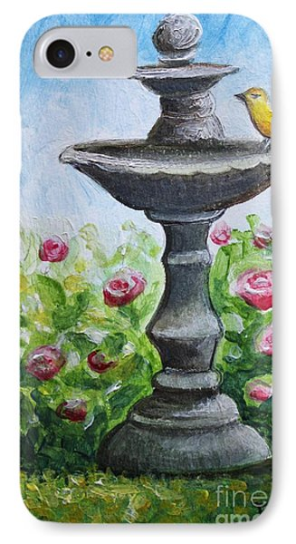 The Fountain IPhone Case by Elizabeth Robinette Tyndall