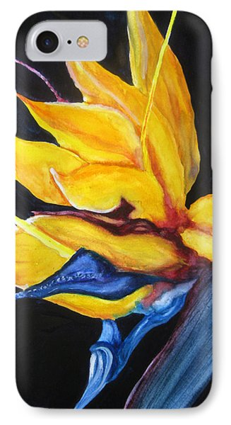 IPhone Case featuring the painting Yellow Bird by Lil Taylor