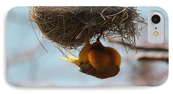 Yellow Bird Retuns To Nest IPhone Case