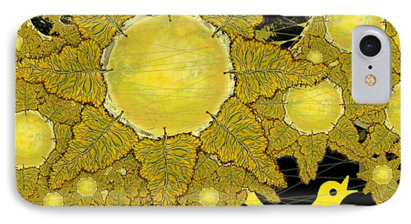 Yellow Bird Sings In The Sunflowers IPhone Case by Carol Jacobs