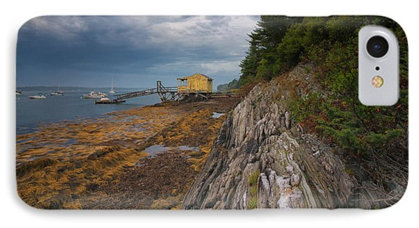 Yellow Boat House IPhone Case by Darylann Leonard Photography
