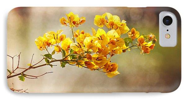 Yellow Bougainvillea IPhone Case by Sally Simon