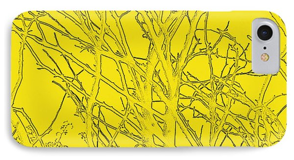 Yellow Branches Phone Case by Carol Lynch