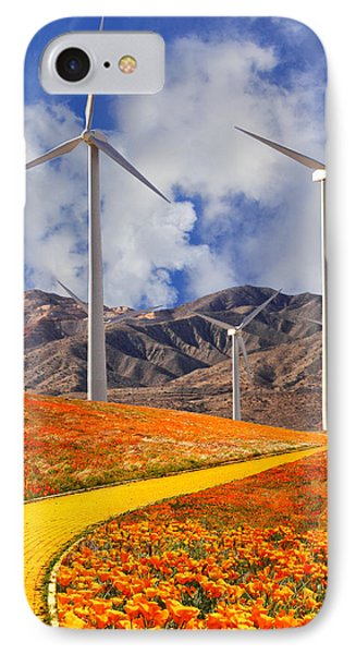 Yellow Brick Road Palm Springs IPhone Case by William Dey