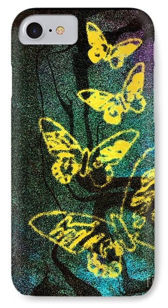Yellow Butterflies IPhone Case by Christine Perry