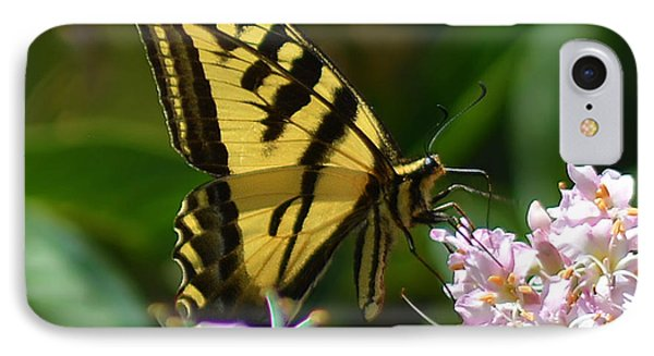 Yellow Butterfly Phone Case by Camille Lopez