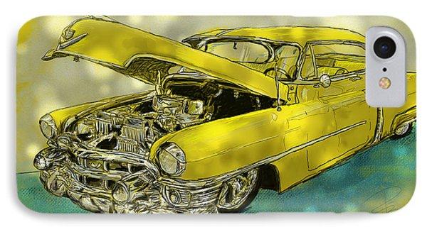 Yellow Cad IPhone Case by Debra Baldwin
