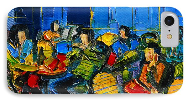 Yellow Cafe IPhone Case by Mona Edulesco
