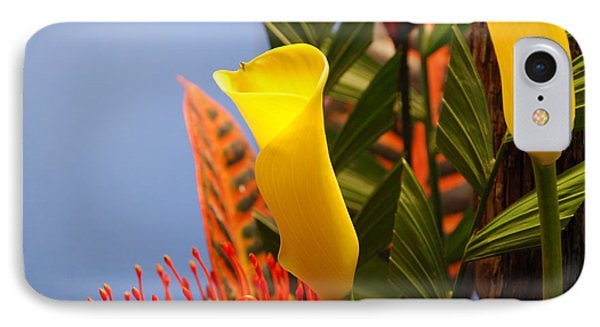 Yellow Calla Lilies IPhone Case by Jennifer Ancker