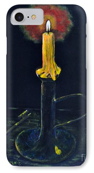 Yellow Candle IPhone Case by Melvin Turner