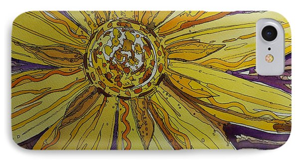 Yellow Chakra Phone Case by Terry Holliday