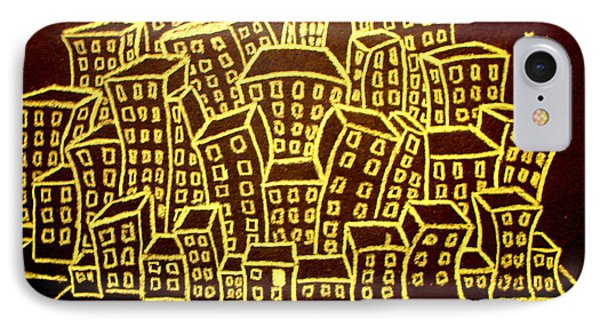 Yellow City Or City Of Gold IPhone Case by Joseph Hawkins