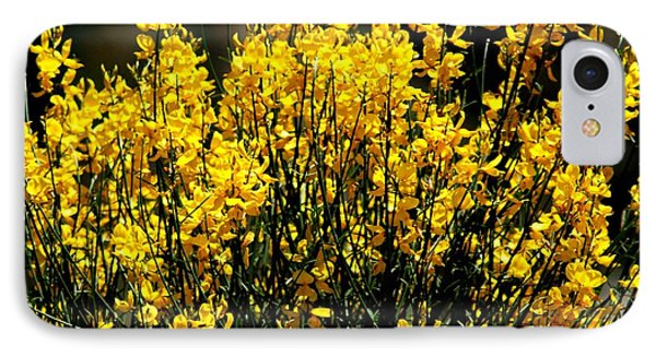 Yellow Cluster Flowers IPhone Case by Matt Harang