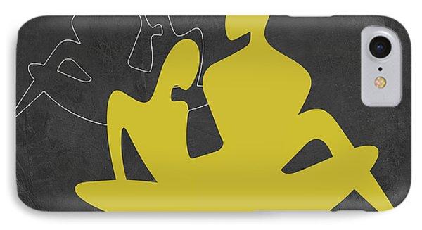 Yellow Couple IPhone Case by Naxart Studio