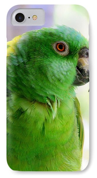 Yellow Crowned Amazon Parrot No 1 Phone Case by Mary Deal