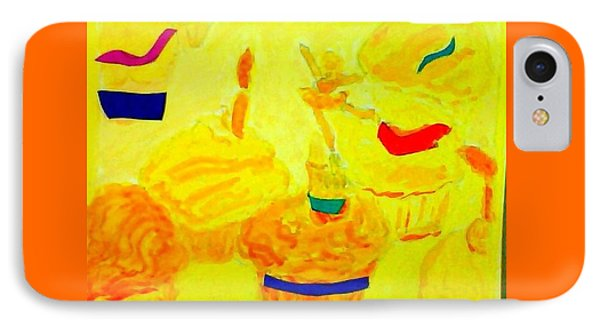 Yellow Cupcakes Phone Case by Suzanne Berthier