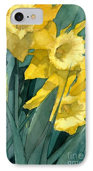 IPhone Case featuring the painting Yellow Daffodils by Greta Corens