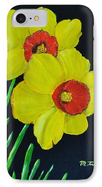 Yellow Daffodils IPhone Case by Melvin Turner