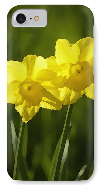 Yellow Daffodils IPhone Case by Sherri Meyer