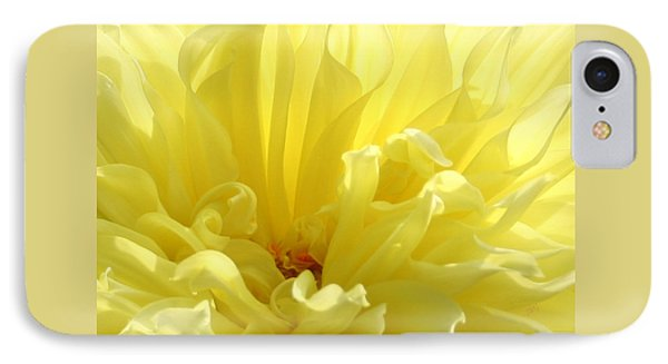 Yellow Dahlia Burst IPhone Case