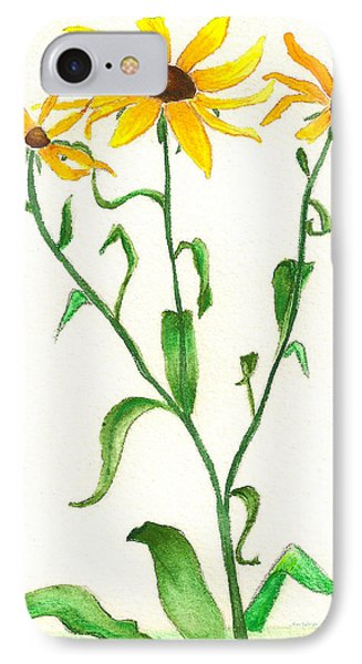 IPhone Case featuring the painting Yellow Daisies by Nan Wright