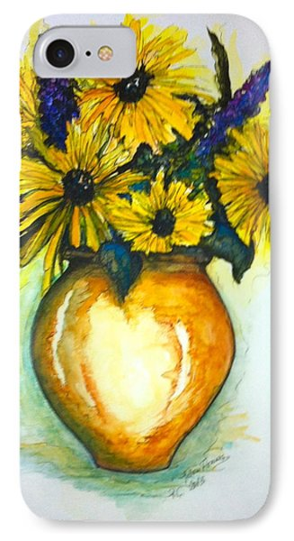 IPhone Case featuring the painting Yellow Daisies by Rae Chichilnitsky