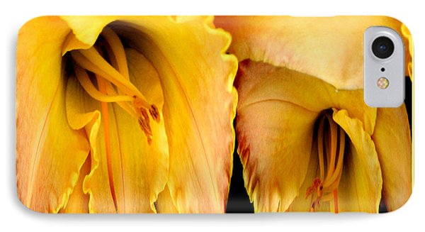 Yellow Daylily Abstract Phone Case by Rose Santuci-Sofranko