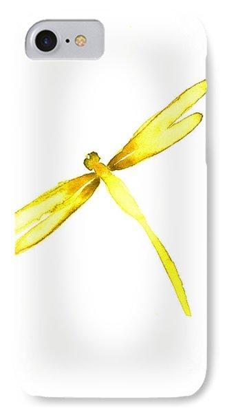 Yellow Dragonfly IPhone Case by Mariusz Szmerdt