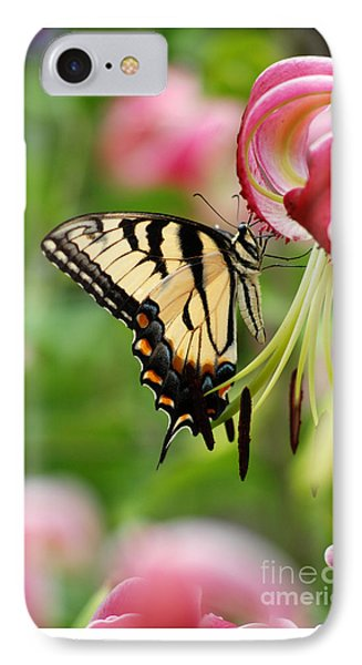 IPhone Case featuring the photograph Yellow Eastern Swallowtail Butterfly by Eva Kaufman