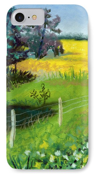Yellow Field Phone Case by Tanya Provines