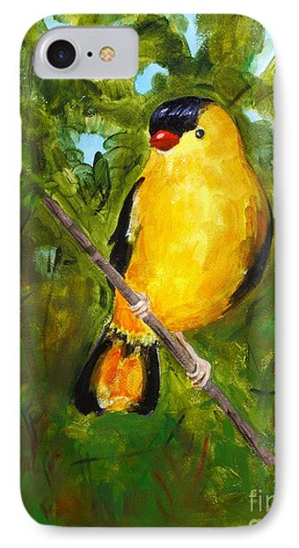 Yellow Finch Phone Case by Valerie Lynch