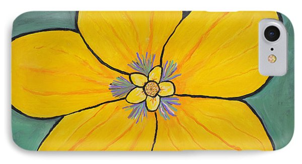 Yellow Flower IPhone Case by Jose Rojas