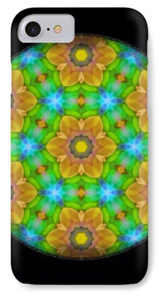 Yellow Flower Mandala Phone Case by Karen Buford