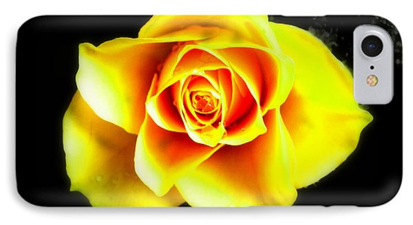 Yellow Flower On A Dark Background IPhone Case