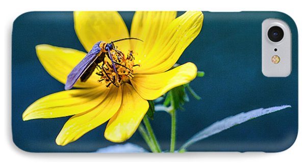 IPhone Case featuring the photograph Yellow Flower With Company by Susi Stroud