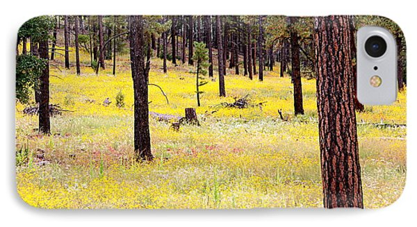 Yellow Forest Phone Case by Kume Bryant