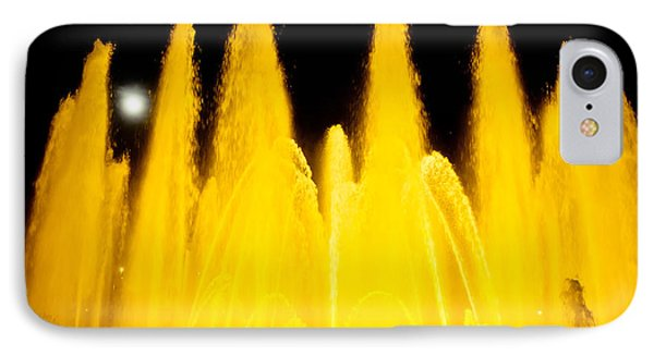 Yellow Fountain At Night Phone Case by Raimond Klavins