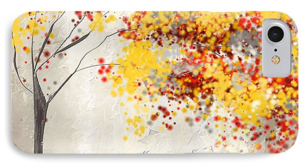 Yellow Gray And Red IPhone Case by Lourry Legarde