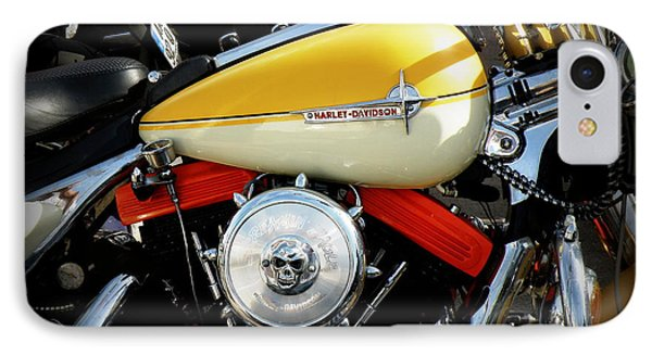 Yellow Harley Phone Case by Lainie Wrightson