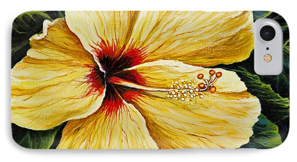 Yellow Hibiscus Phone Case by Darice Machel McGuire