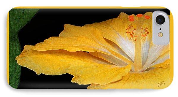 Yellow Hibiscus. Detail Phone Case by Ben and Raisa Gertsberg