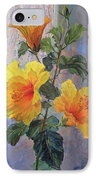 Yellow Hibiscus Flower IPhone Case