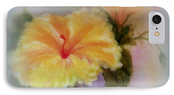 Yellow Hibiscus IPhone Case by Kay Novy