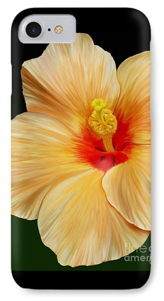 IPhone Case featuring the painting Yellow Hibiscus by Rand Herron