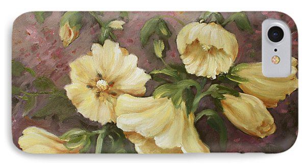 Yellow Holyhock IPhone Case by Marta Styk