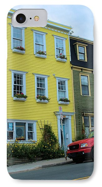 IPhone Case featuring the photograph Yellow House Red Truck by Douglas Pike