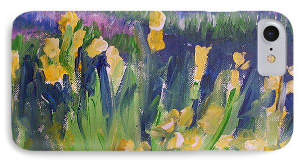 Yellow Iris Phone Case by Eric  Schiabor