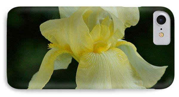Yellow Iris Phone Case by Sandy Keeton