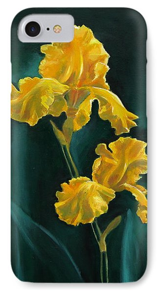 Yellow Iris IPhone Case by Synnove Pettersen
